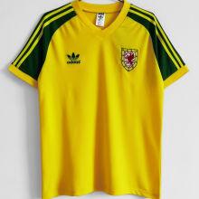 1982 Wales Away Yellow Retro Soccer Jersey