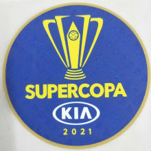 SUPERCOPA 2021 Patch 巴西超级杯章 蓝色 胶的