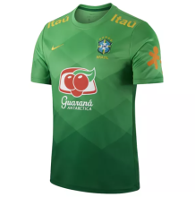 2021 Brazil Home Green Training Soccer Jersey
