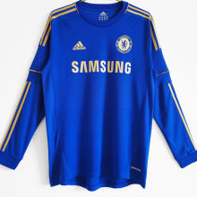 2012/13 CFC Home Blue Long Sleeve Retro Soccer Jersey