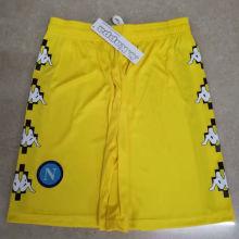 2021 Napoli Marcelo Burlon Limited Edition Yellow Shorts Pants