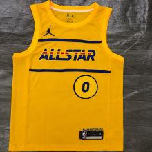 2021 ALL STAR LILLARD # 0 JD Yellow NBA Jerseys Hot Pressed
