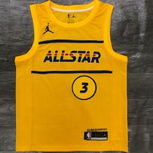 2021 ALL STAR PAUL # 3 JD Yellow NBA Jerseys Hot Pressed