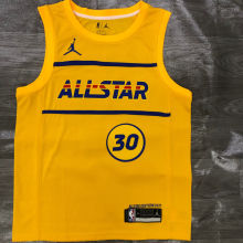 2021 ALL STAR CURRY # 30 JD Yellow NBA Jerseys Hot Pressed