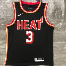 Miami Heat WADE # 3 Black NBA Jerseys Hot Pressed