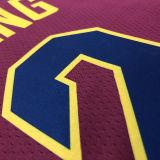 Cleveland IRVING # 2 Claret NBA Jerseys Hot Pressed