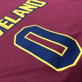 Cleveland LOVE # 0 Claret NBA Jerseys Hot Pressed