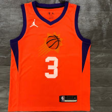 2021 Suns PAUL #3 Jordan Orange NBA Jerseys Hot Pressed