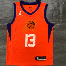 2021 Suns NASH #13 Jordan Orange NBA Jerseys Hot Pressed