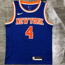 NY Knicks ROSE # 4 Blue NBA Jerseys Hot Pressed