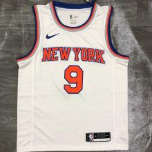 NY Knicks BARRETT # 9 White NBA Jerseys Hot Pressed