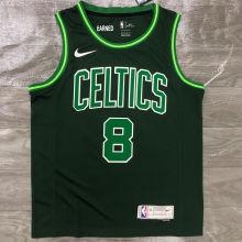 2021 CelticsWALKER #8 EARNED Edition Green NBA Jerseys Hot Pressed