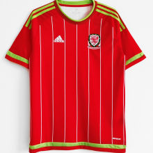 2015/16 Wales Home Red Retro Soccer Jersey