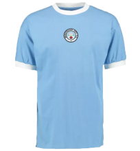1972 Man City Home Blue Retro Soccer Jersey