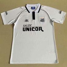 1997 Santos Home White Retro Soccer Jersey