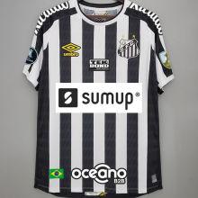 2021/22 Santos 1:1 Away Fans Soccer Jersey 有解放者3臂章 (Have Libertadores 3 Patch+ALL AD)