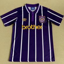 1993 Man City Away Retro Soccer Jersey