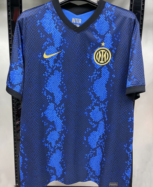 2021/22 In Milan 1:1 Quality Home Blue Black Fans Soccer Jersey