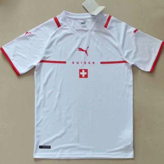 2021/22 Switzerland  Away White Fans Soccer Jersey