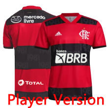 2021/22 Flamengo Home Player Version Soccer Jersey (New AD球员版新广告)