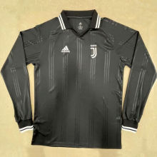 JUV Retro Black Icon Long Sleeve Jersey