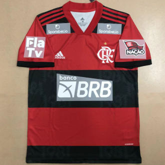 2021/22 Flamengo 1:1 Quality Fans Soccer Jersey (All AD 新全广告)