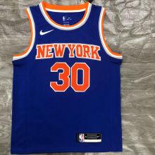 NY Knicks RANDLE # 30 Blue NBA Jerseys Hot Pressed