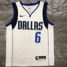 Mavericks Porzingis # 6 White NBA Jerseys Hot Pressed