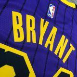 2018 LA Lakers BRYANT # 24 Purple Stripe Limited Edition NBA Jerseys Hot Pressed