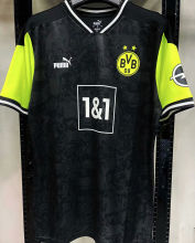 2021 BVB 1:1 Quality Commemorative Edition Black Fans Soccer Jersey