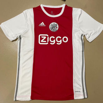 2021/22 Ajax Home Red White Fans Soccer Jersey