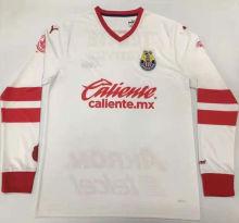 2021 Chivas 115Year Whte Long Sleeve GK Soccer Jersey