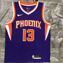 2021 Suns NASH #13 Purplee NBA Jerseys Hot Pressed