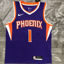 2021 Suns BOOKER #1 Purplee NBA Jerseys Hot Pressed
