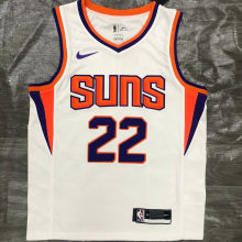 2021 Suns AYTON #22  White NBA Jerseys Hot Pressed