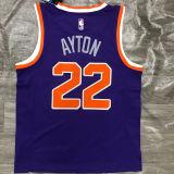 2021 Suns AYTON #22 Purplee NBA Jerseys Hot Pressed