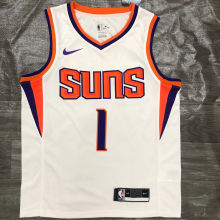 2021 Suns BOOKER #1 White NBA Jerseys Hot Pressed