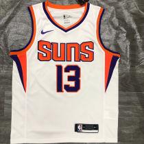 2021 Suns NASH #13 White NBA Jerseys Hot Pressed