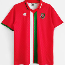 1996/1998 Wales Home Red Retro Soccer Jersey
