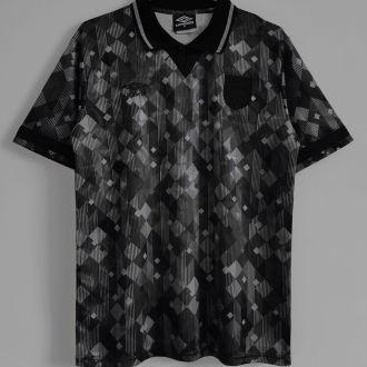 1990 England Black Special Version Retro Soccer Jersey(Have umbro 有茵宝)