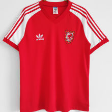 1982 Wales Home Red Retro Soccer Jersey