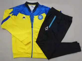 2021 Napoli Marcelo Burlon Limited Edition Yellow Jacket Tracksuit