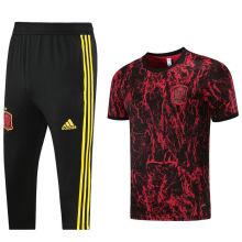 2021/22 Spain Red Black Training Short Tracksuit (LH 短裤套装)