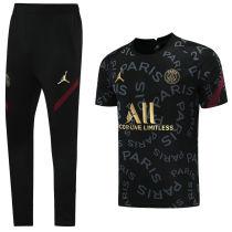 2021/22 PSG JD Black Training Tracksuit (LH 长裤套装 背后有广告)
