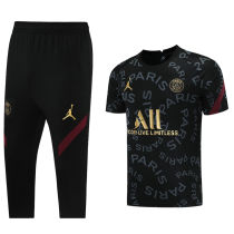 2021/22 PSG JD Black Training Short Tracksuit (LH 短裤套装 背后有广告)