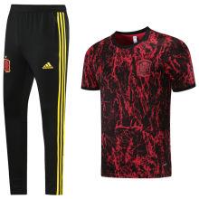 2021/22 Spain Red Black Training Tracksuit (LH 长裤套装)