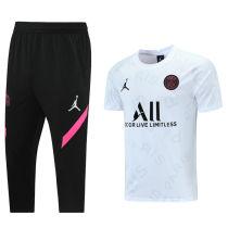 2021/22 PSG JD White Training Short Tracksuit (LH 短裤套装 背后有广告)