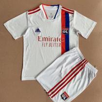 2021/22 Lyon Home White Kids Soccer Jersey