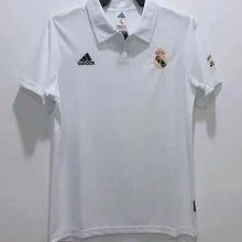 2002-2003 RM White Home Retro Soccer Jersey