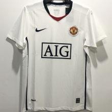 2008/2009 M Utd Away White Retro Soccer Jersey